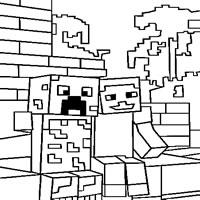 minecraft malvorlagen - jetzt spielen auf neueaffenspiele.de