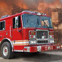 Brandbekämpfung LKW