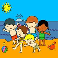 Sommerferien Malvorlage