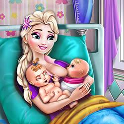 Elsa Mommy Twins Birth