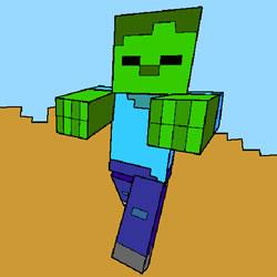 Minecraft Zombie Färbung