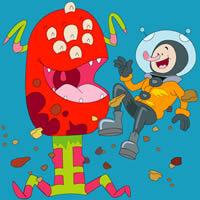 Alien und Astronaut