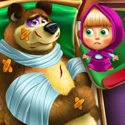 Masha and The Bear Injured